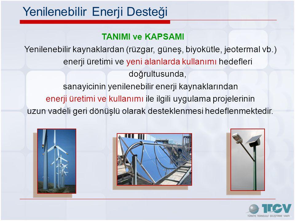 Yenilenebilir Enerji Desteği