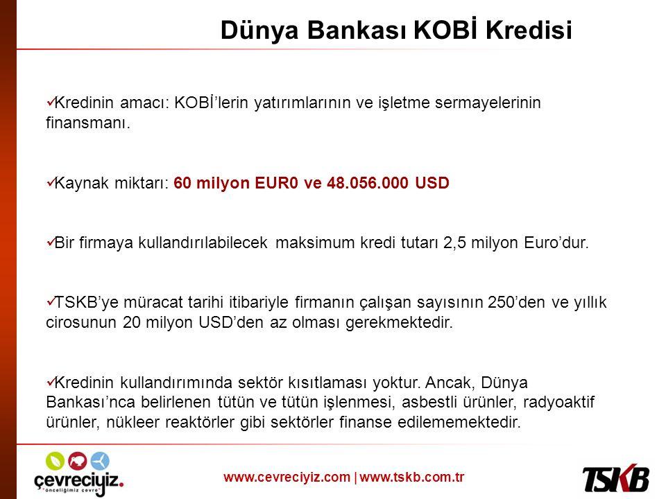 Dünya Bankası KOBİ Kredisi