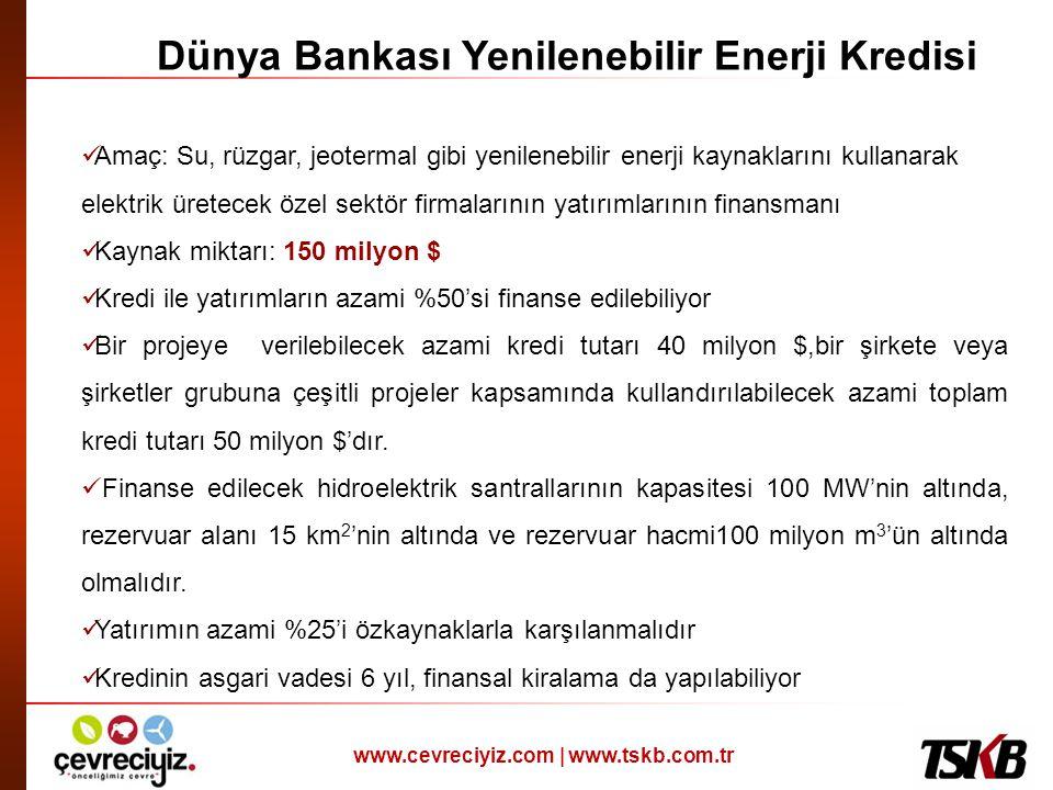 Dünya Bankası Yenilenebilir Enerji Kredisi