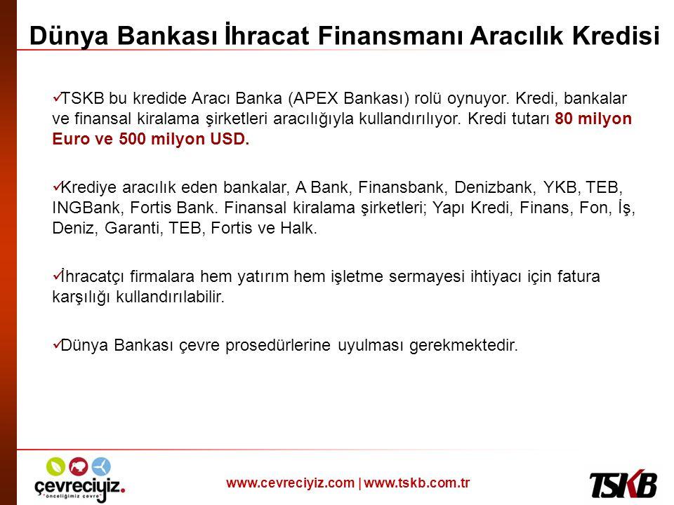 Dünya Bankası İhracat Finansmanı Aracılık Kredisi