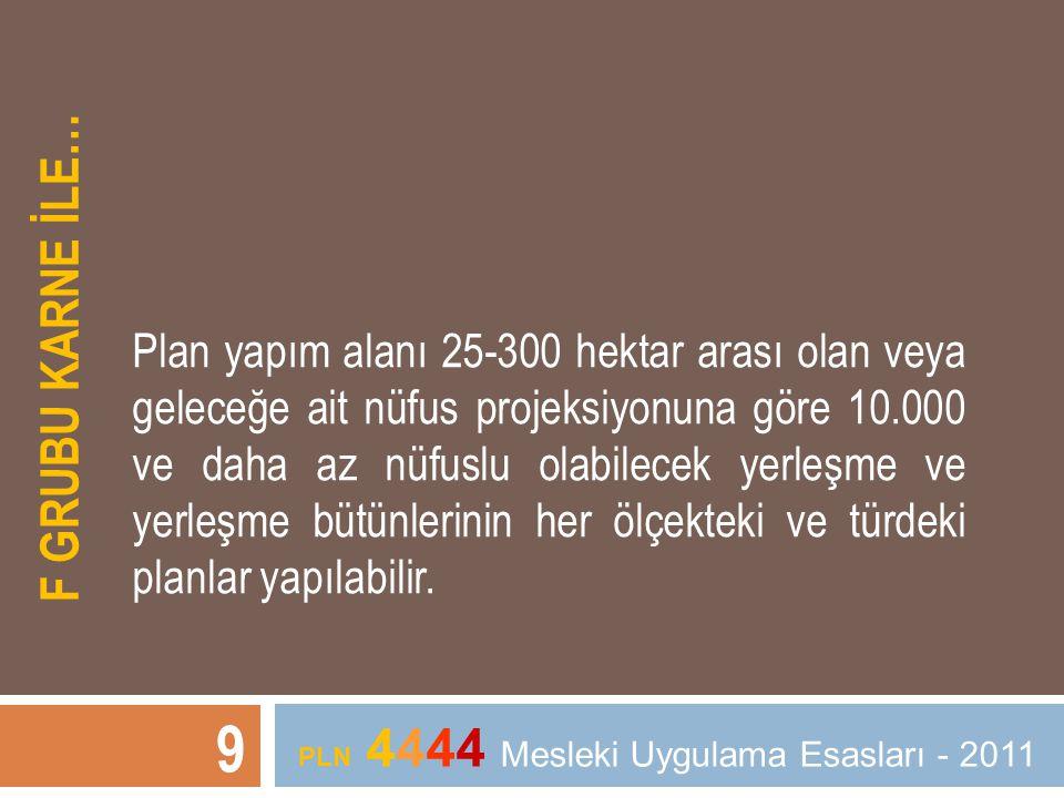 PLN 4444 Mesleki Uygulama Esasları - 2011