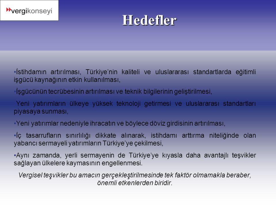 Hedefler İstihdamın artırılması, Türkiye'nin kaliteli ve uluslararası standartlarda eğitimli işgücü kaynağının etkin kullanılması,
