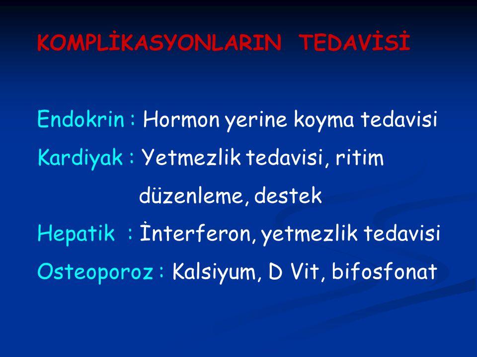 KOMPLİKASYONLARIN TEDAVİSİ