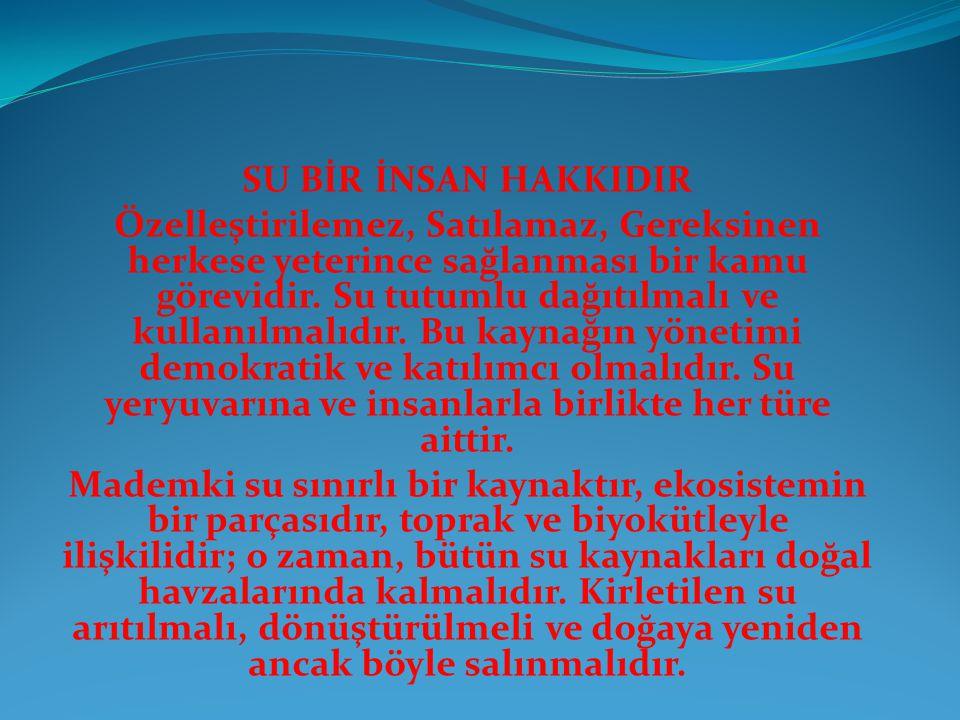 SU BİR İNSAN HAKKIDIR