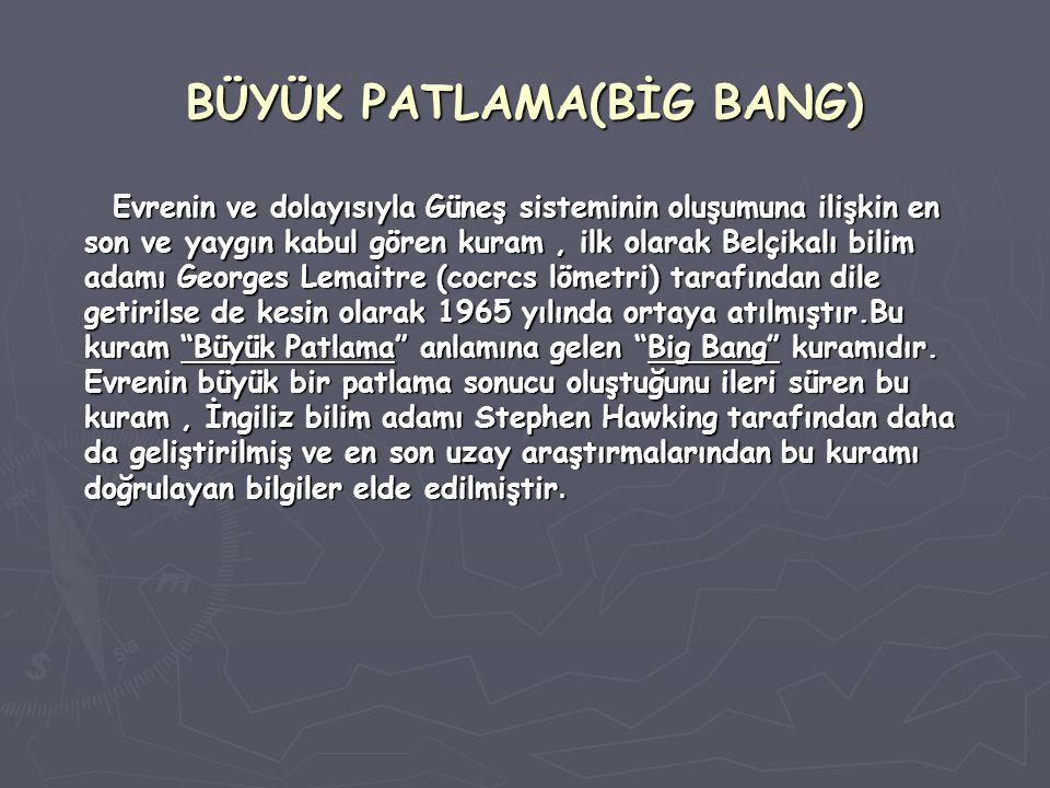 BÜYÜK PATLAMA(BİG BANG)