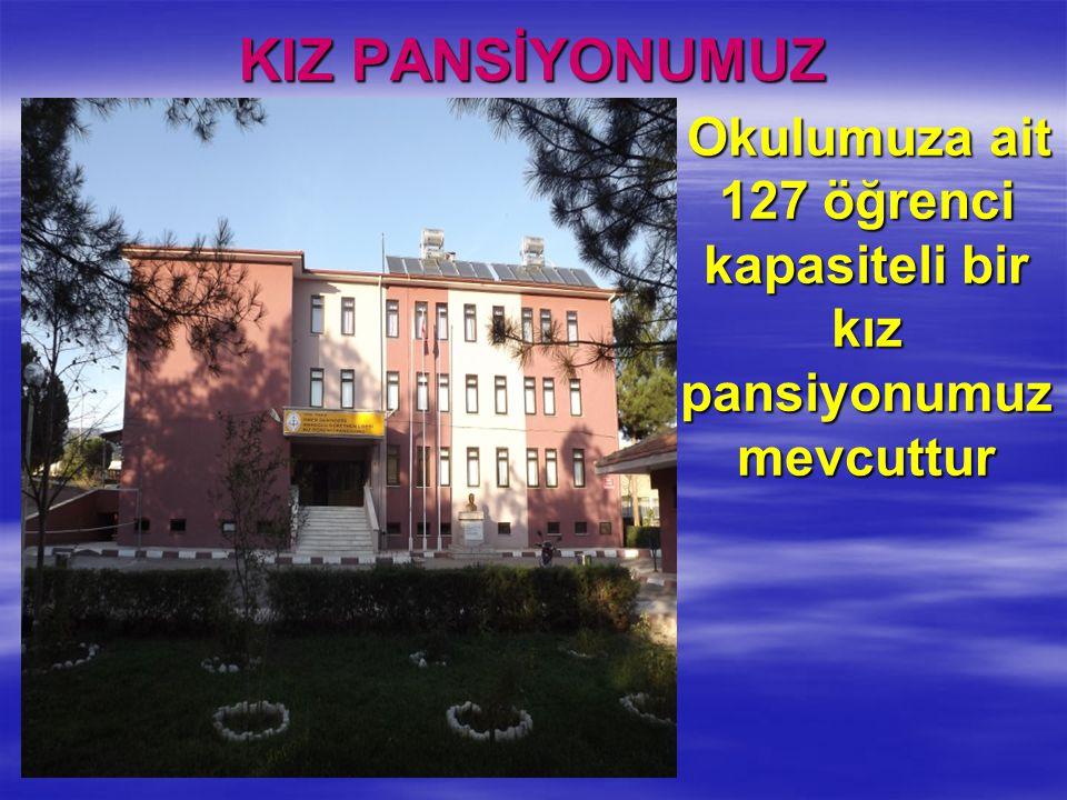 Okulumuza ait 127 öğrenci kapasiteli bir kız pansiyonumuz mevcuttur