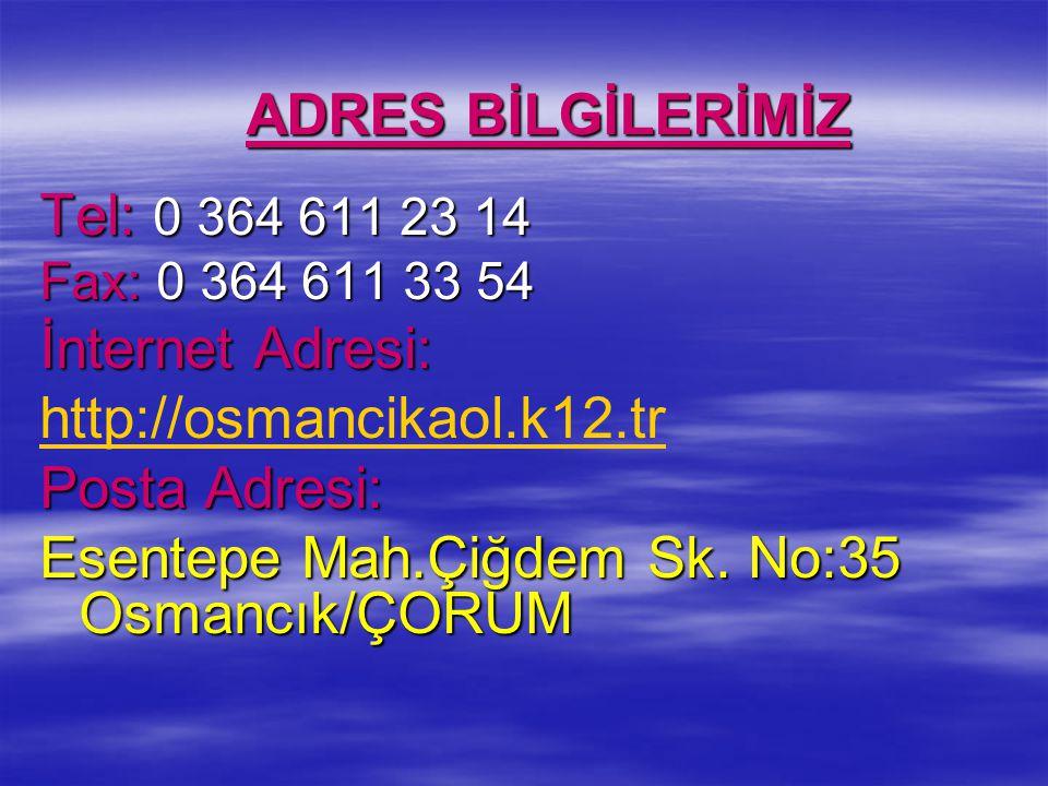 Esentepe Mah.Çiğdem Sk. No:35 Osmancık/ÇORUM