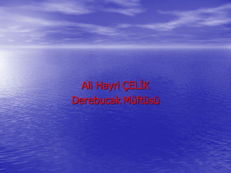Ali Hayri ÇELİK Derebucak Müftüsü