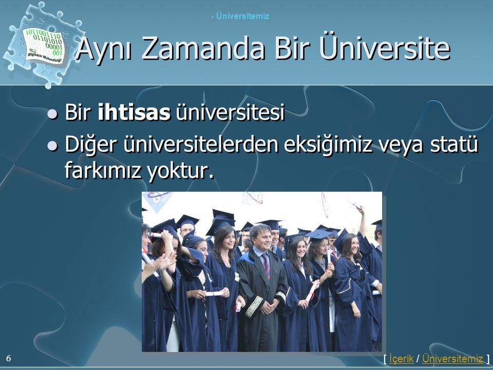 Aynı Zamanda Bir Üniversite