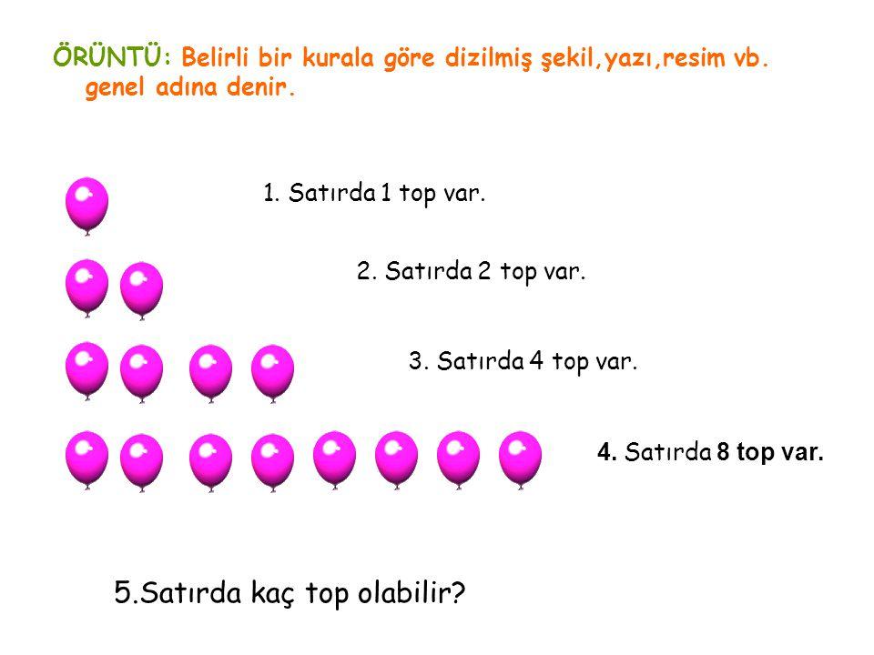 5.Satırda kaç top olabilir