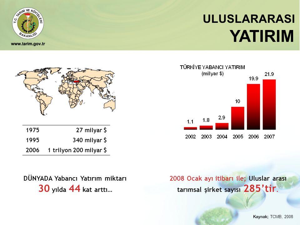 YATIRIM ULUSLARARASI 30 yılda 44 kat arttı…