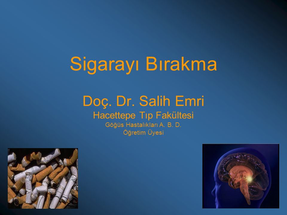 Sigarayı Bırakma Doç. Dr