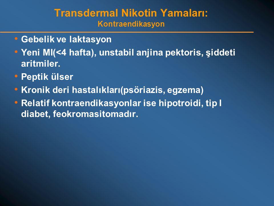 Transdermal Nikotin Yamaları: Kontraendikasyon