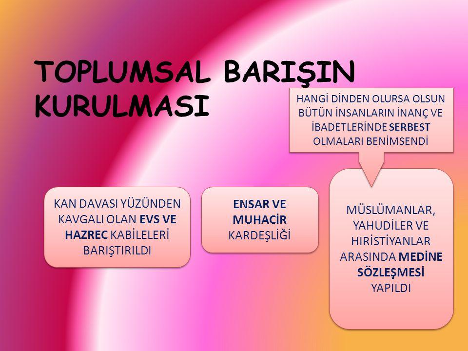 TOPLUMSAL BARIŞIN KURULMASI