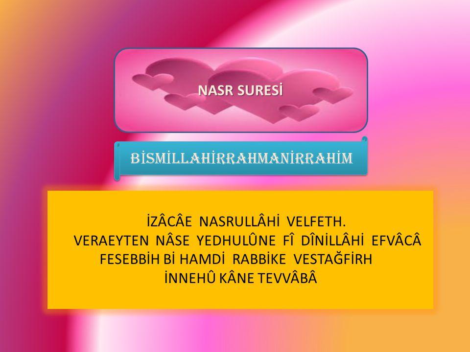 BİSMİLLAHİRRAHMANİRRAHİM