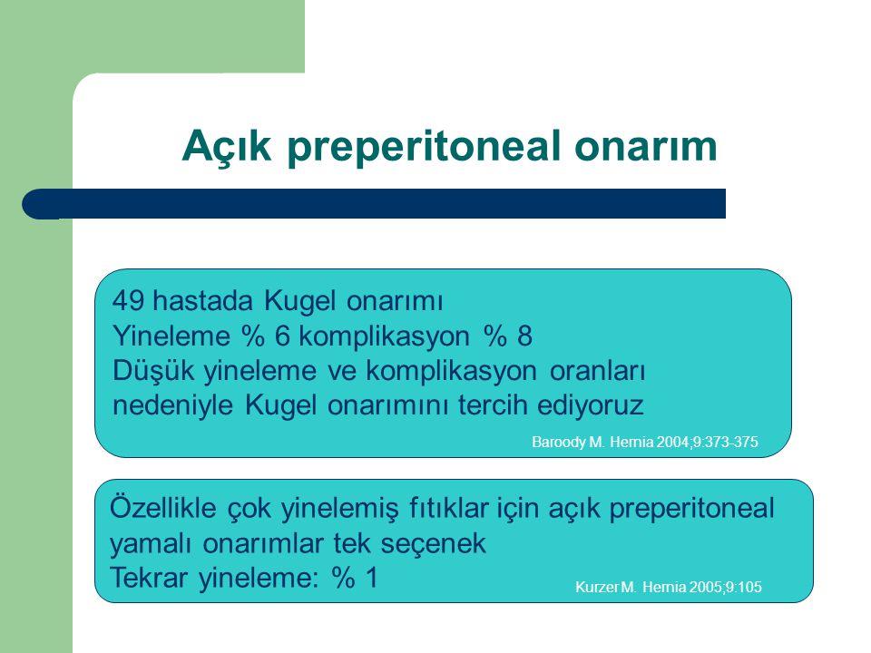Açık preperitoneal onarım