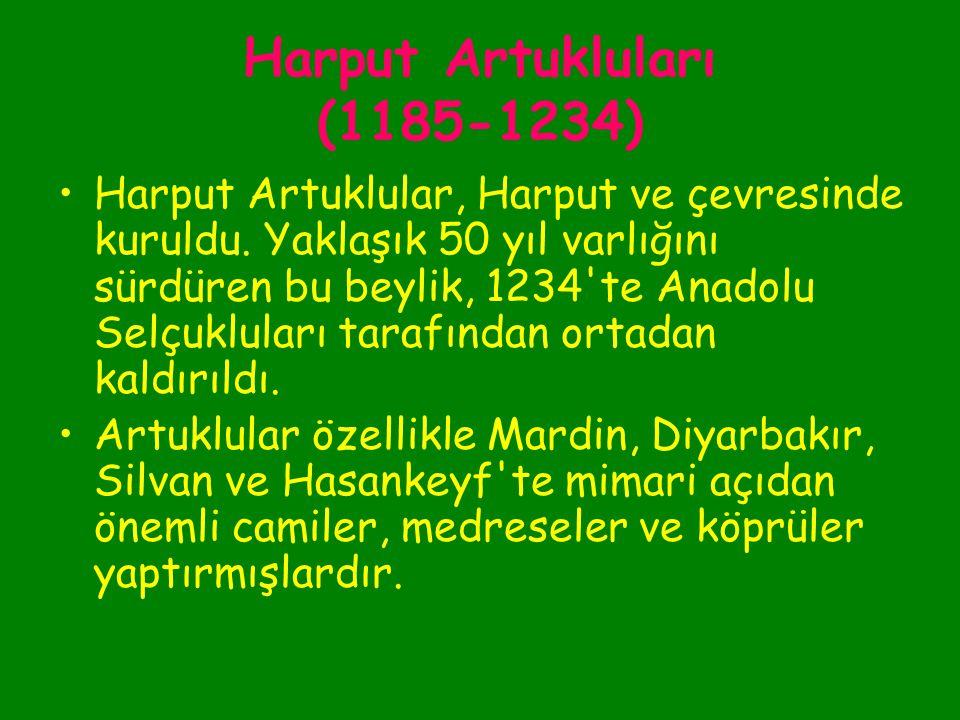 Harput Artukluları (1185-1234)