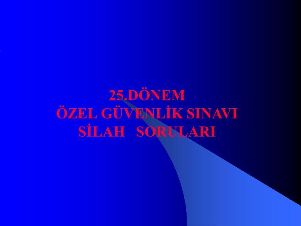 25.DÖNEM ÖZEL GÜVENLİK SINAVI SİLAH SORULARI