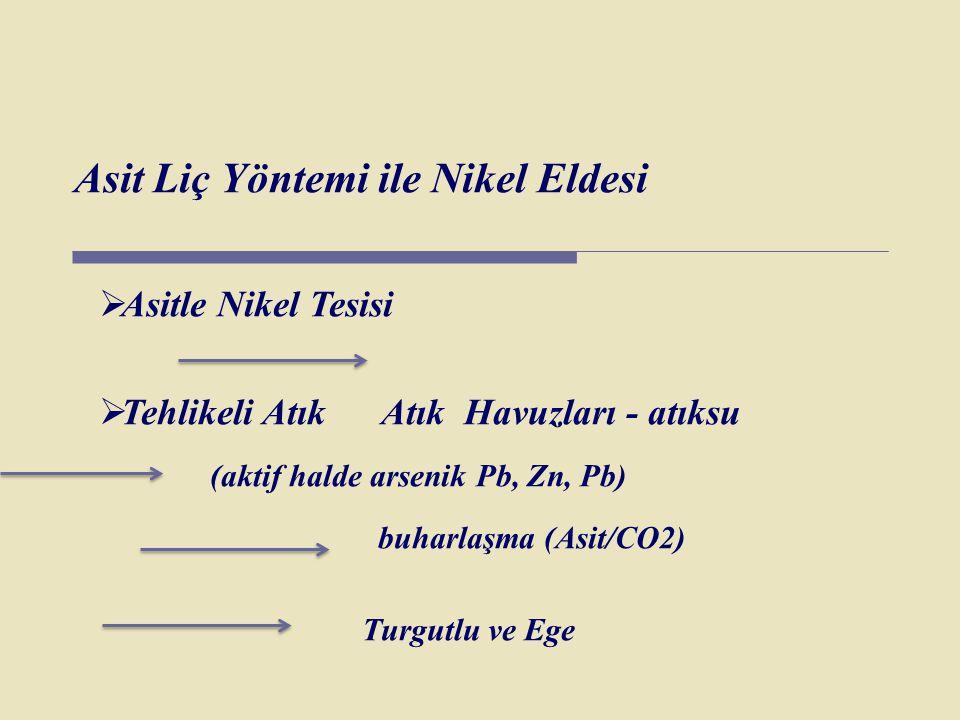 Asit Liç Yöntemi ile Nikel Eldesi