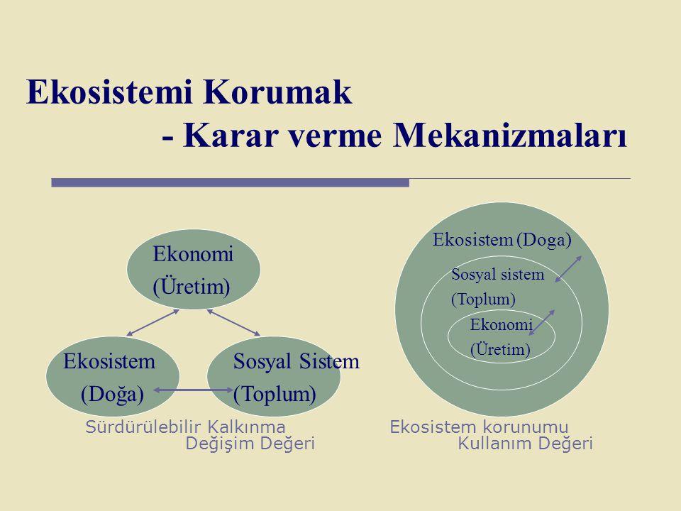 Ekosistemi Korumak - Karar verme Mekanizmaları