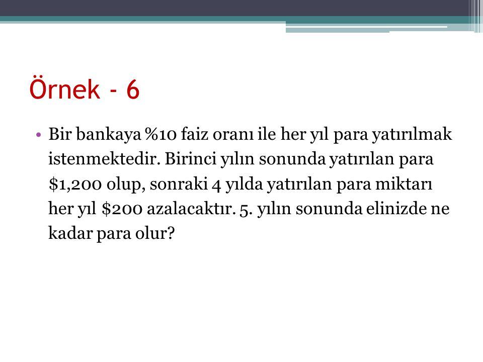 Örnek - 6
