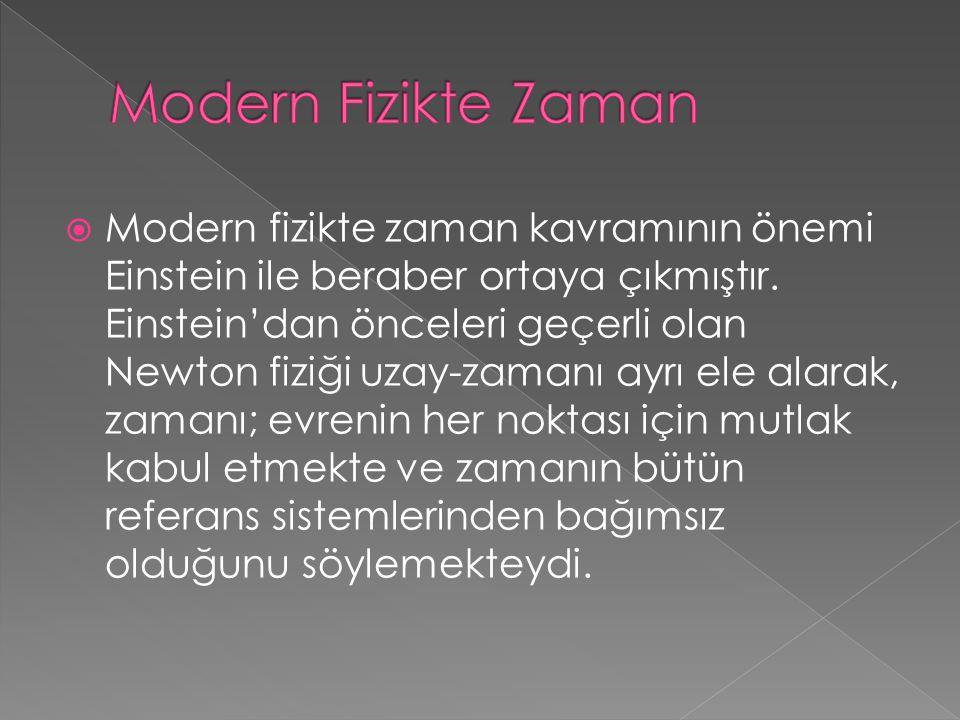 Modern Fizikte Zaman