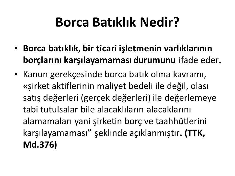Borca Batıklık Nedir Borca batıklık, bir ticari işletmenin varlıklarının borçlarını karşılayamaması durumunu ifade eder.