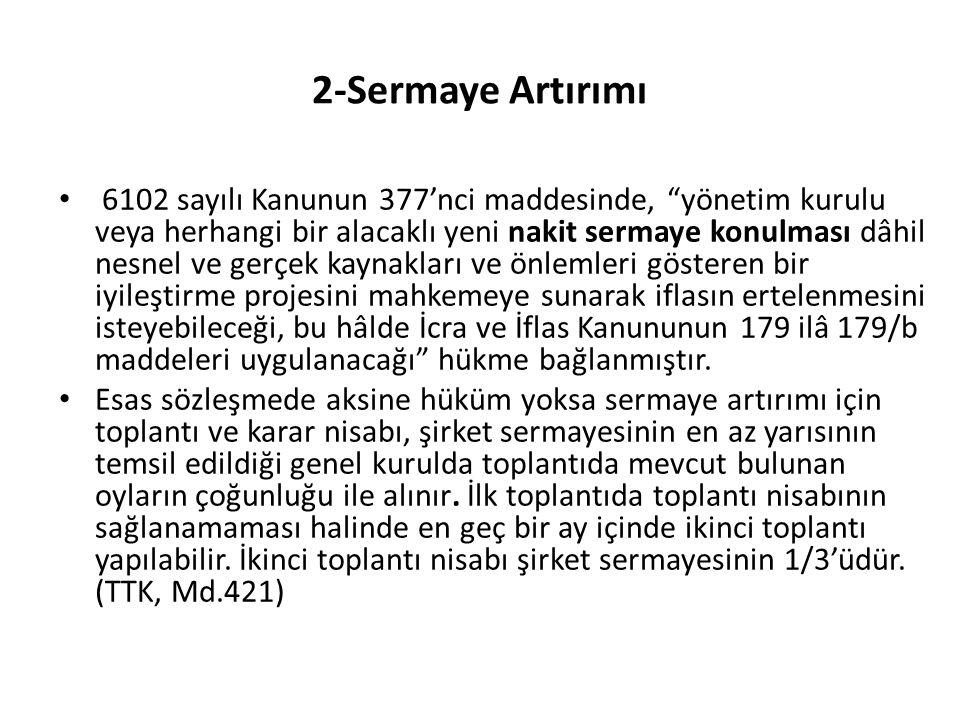 2-Sermaye Artırımı