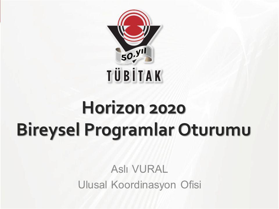 Horizon 2020 Bireysel Programlar Oturumu