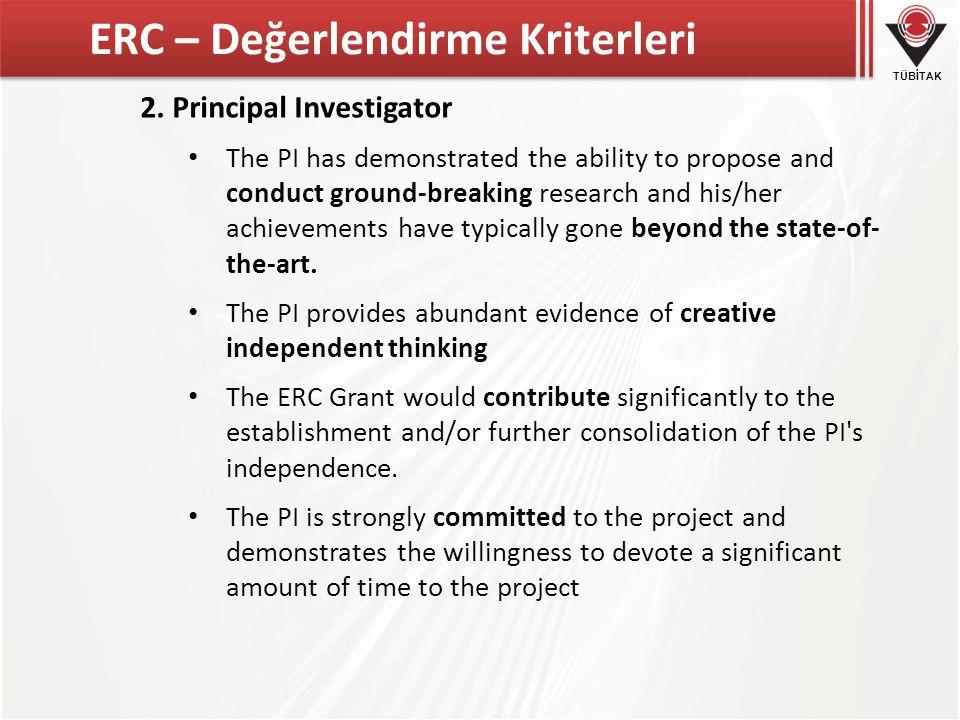 ERC – Değerlendirme Kriterleri
