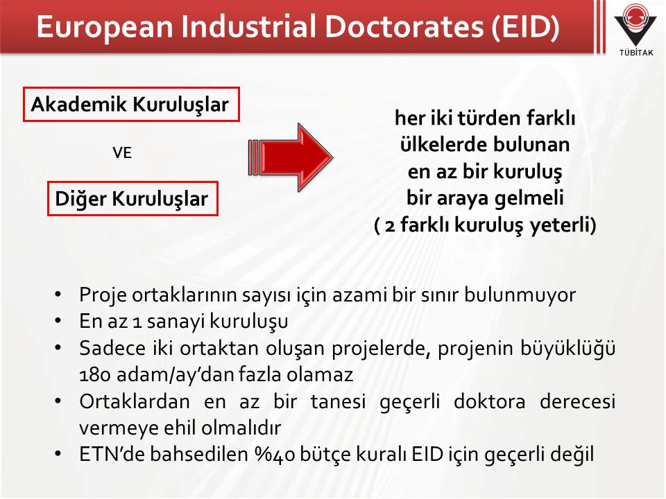 European Industrial Doctorates (EID)