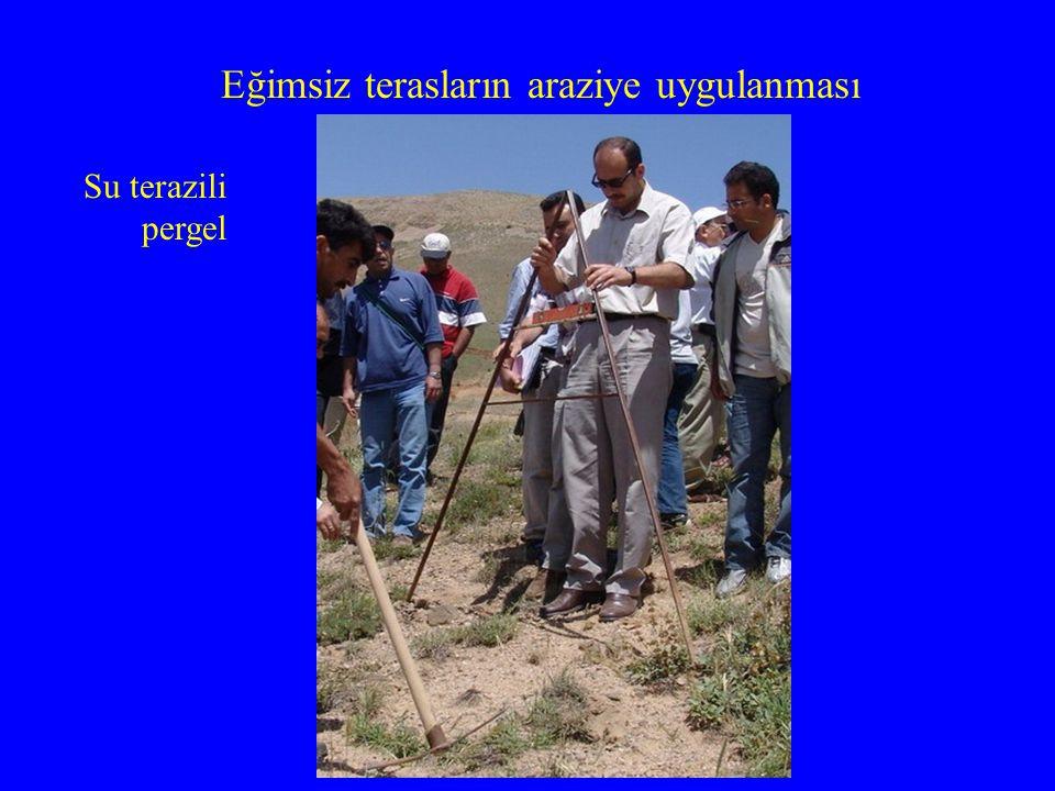 Eğimsiz terasların araziye uygulanması