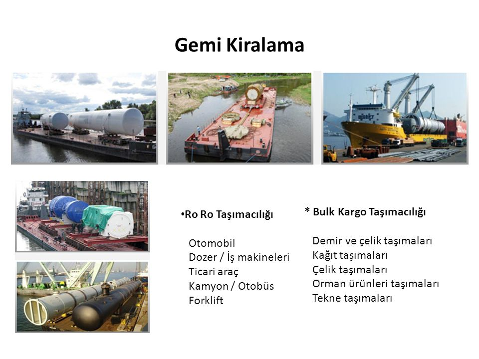 Gemi Kiralama Ro Ro Taşımacılığı