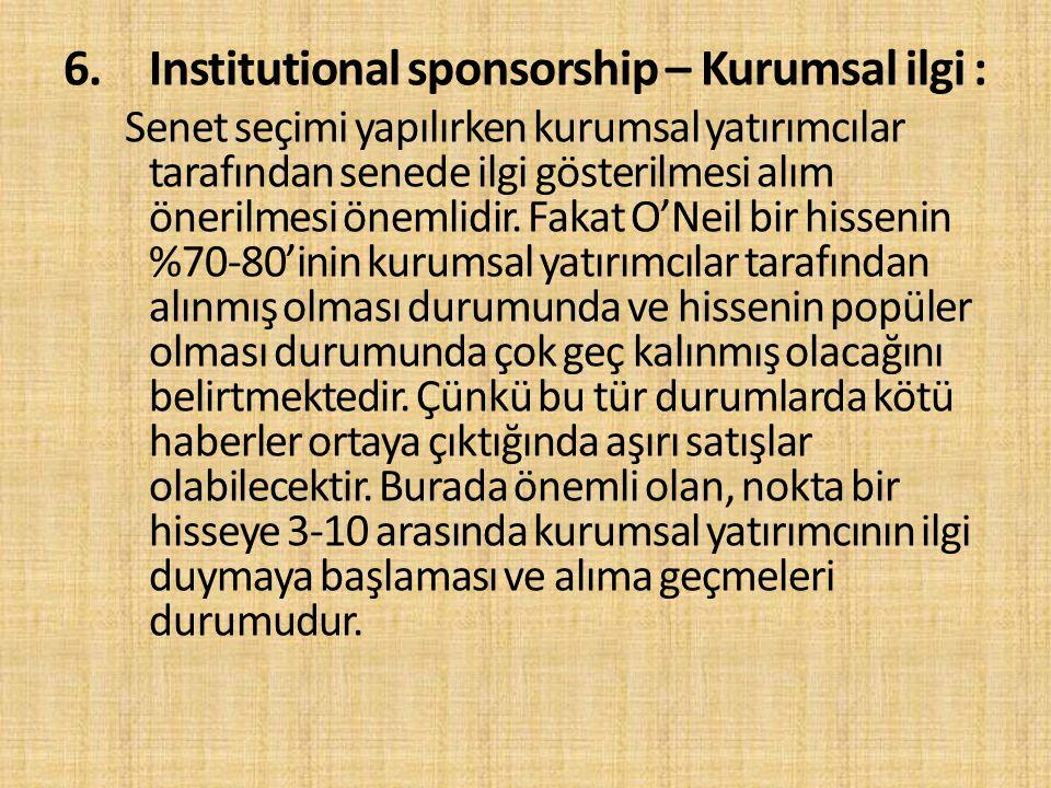 Institutional sponsorship – Kurumsal ilgi :
