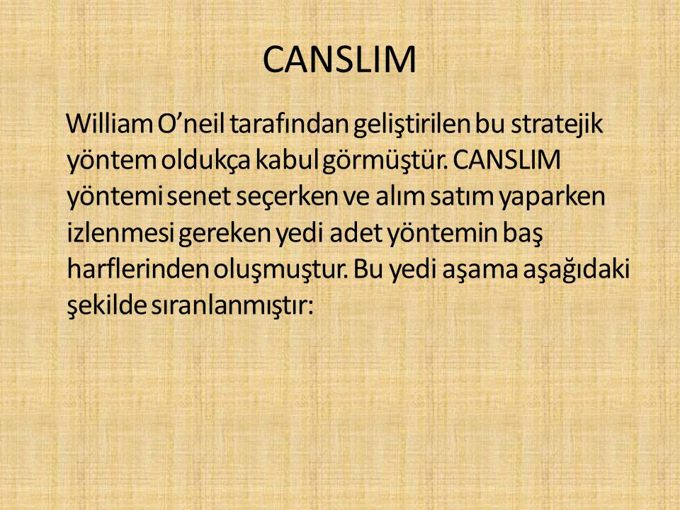 CANSLIM
