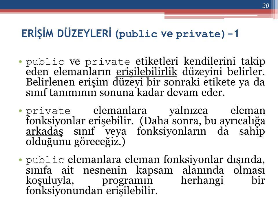 ERİŞİM DÜZEYLERİ (public ve private)-1