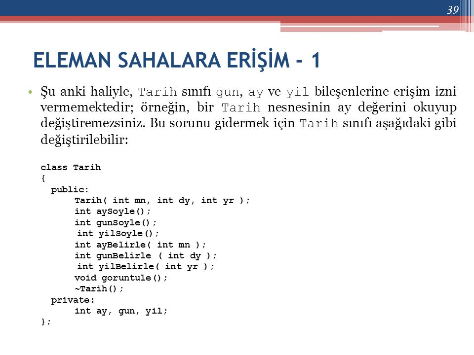 ELEMAN SAHALARA ERİŞİM - 1