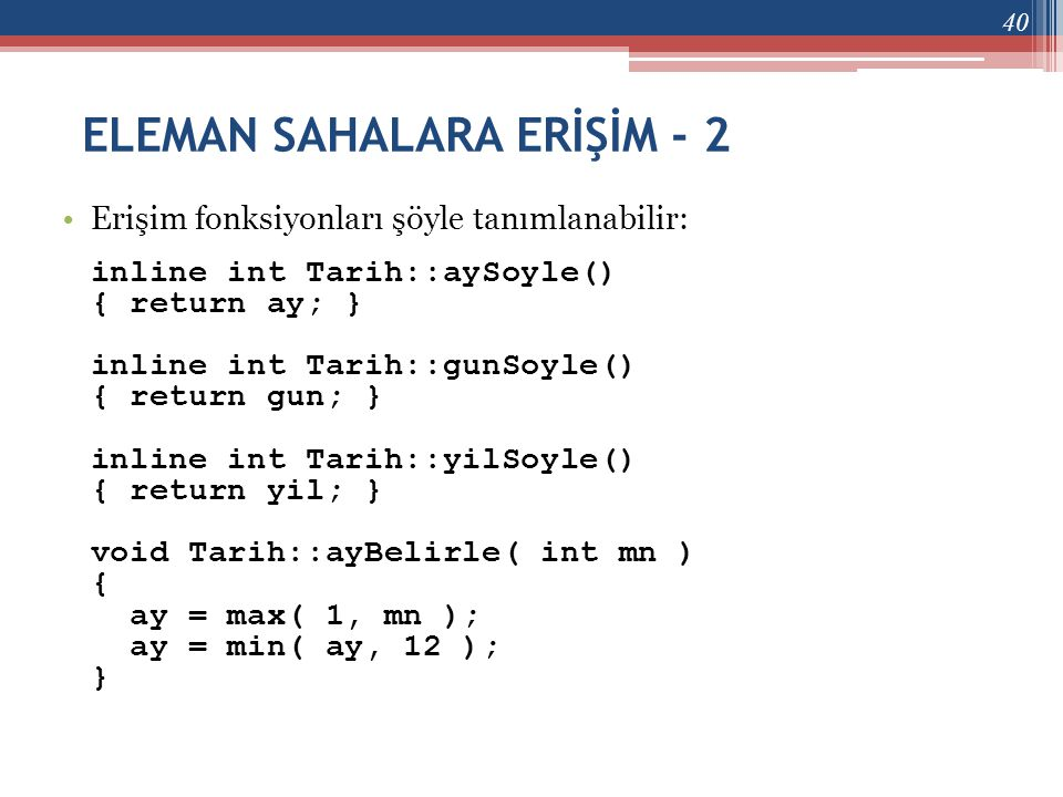 ELEMAN SAHALARA ERİŞİM - 2