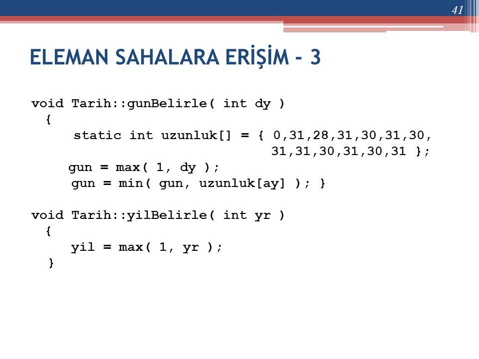 ELEMAN SAHALARA ERİŞİM - 3