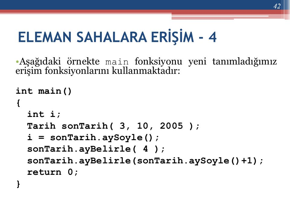 ELEMAN SAHALARA ERİŞİM - 4