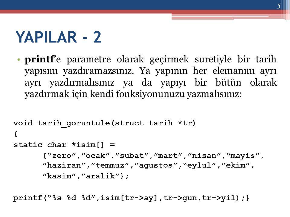 YAPILAR - 2