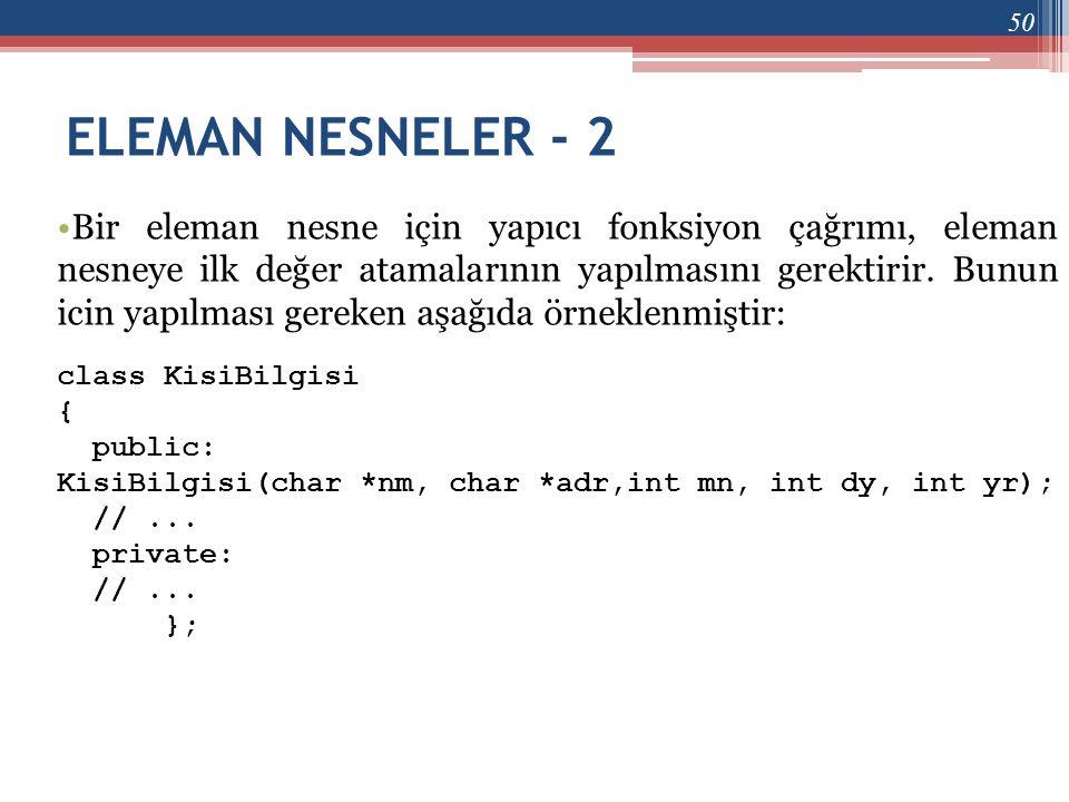 ELEMAN NESNELER - 2