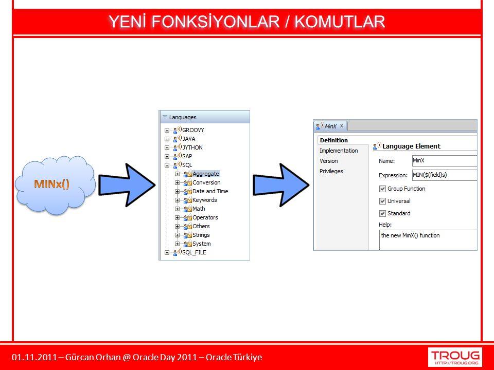 YENİ FONKSİYONLAR / KOMUTLAR