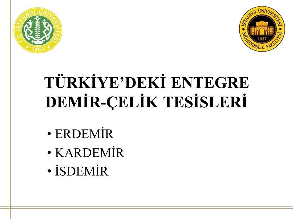 TÜRKİYE'DEKİ ENTEGRE DEMİR-ÇELİK TESİSLERİ