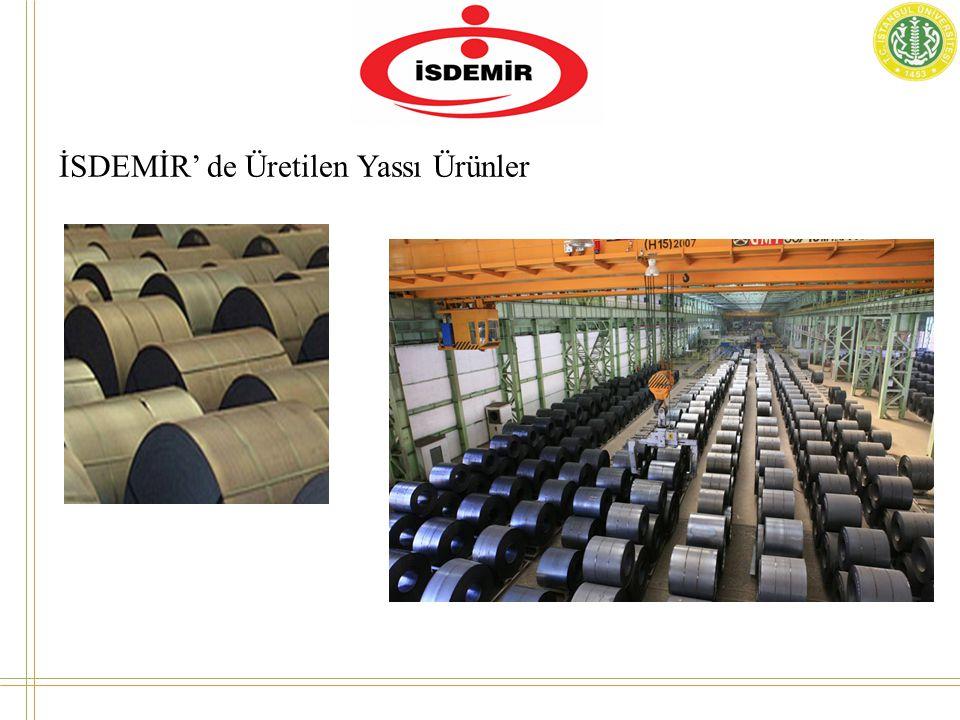İSDEMİR' de Üretilen Yassı Ürünler