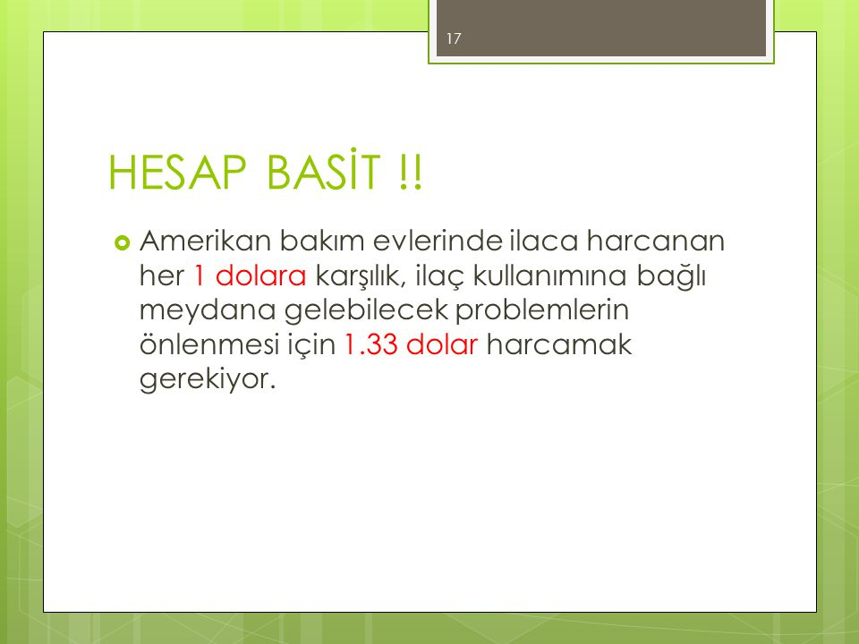 HESAP BASİT !!