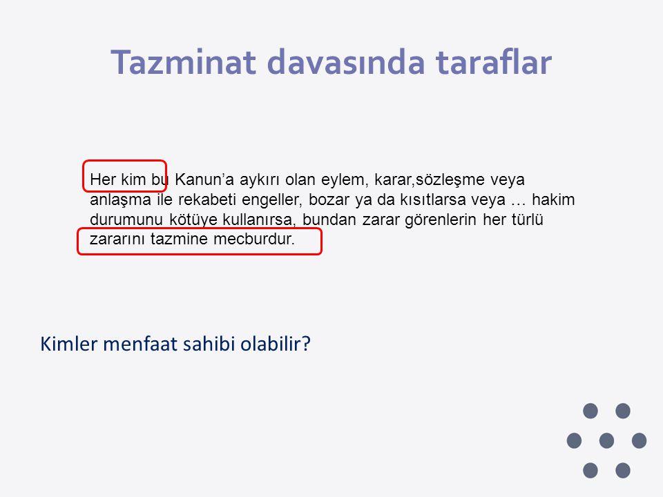 Tazminat davasında taraflar