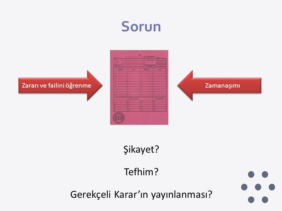 Sorun Şikayet Tefhim Gerekçeli Karar'ın yayınlanması