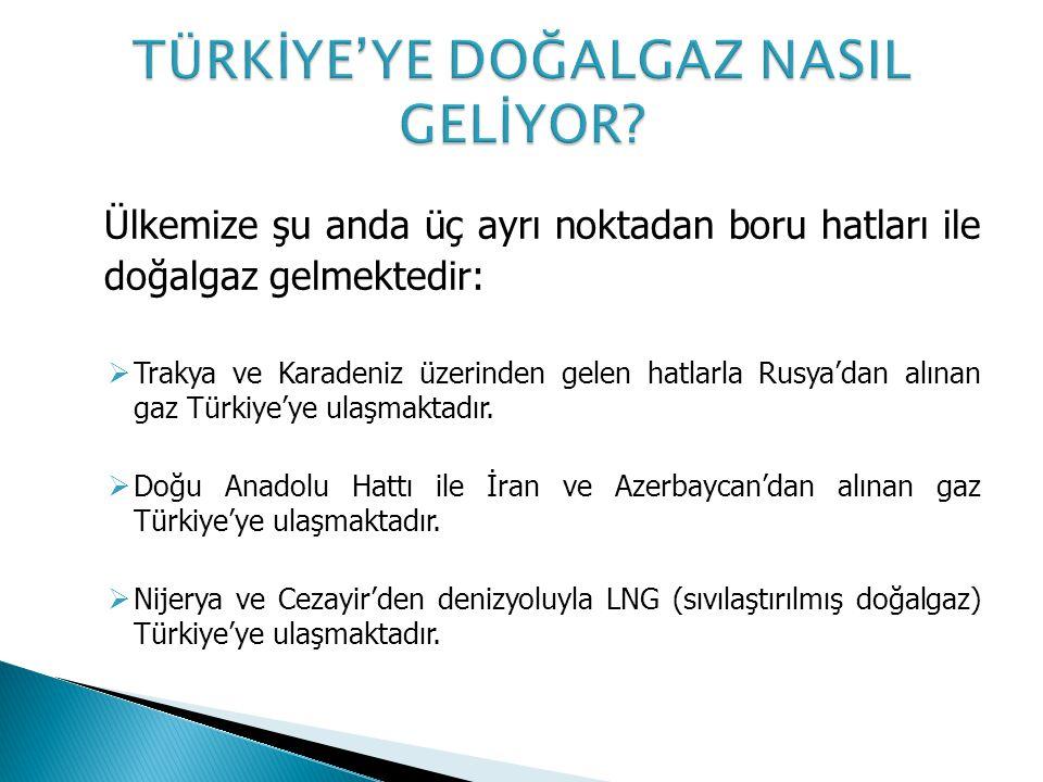 TÜRKİYE'YE DOĞALGAZ NASIL GELİYOR