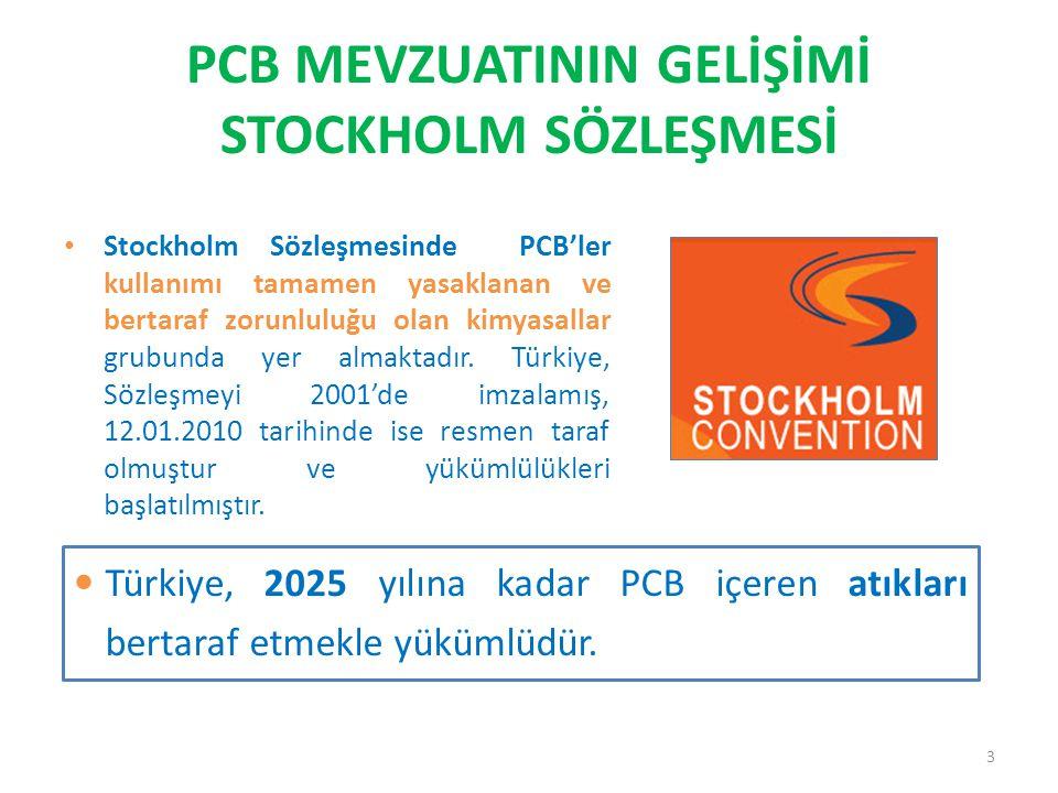 PCB MEVZUATININ GELİŞİMİ STOCKHOLM SÖZLEŞMESİ